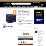 Heavy Duty Removal Blanket 1.8mx3.4m 5-Pack: 1 for $70, 10 for $600, 20 for $1100 Delivered (Select Areas) @ Fair Price Gallery