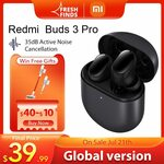 Xiaomi Redmi Buds 3 Pro TWS Hybrid ANC Earphones US$43.99 (~A$60.29) Shipped @ Mi Global Zone Store AliExpress