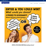 Win a $500 Gift Card to Use at Any BIG4 Caravan Park or A$500 JB Hi-Fi Voucher from SpringBank Plaza