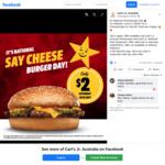 [VIC, NSW] $2 Cheeseburger to Celebrate National Cheeseburger Day @ Carl's Jr