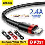 Baseus 2.4a USB to Lightning Charging Cable Cord for iPhone from $4.89 Delivered @ baseus_online_store eBay