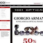 50% off Armani at 1001 Optical