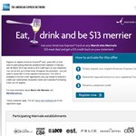 Merivale NSW - Spend $33 at Participating Restaurants W AmEx & Get $13 Credit