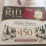 Liquor Barons - Buy 12 Wines for $150 and Receive a $100 Kitchen Warehouse Voucher