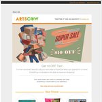 $10 off Your Next Order at ArtsCow ($10 Min Spend + Postage)