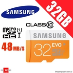 Samsung EVO MicroSD 32GB $16.95, 64GB $39.95 + $1 Delivery @ ShoppingSquare