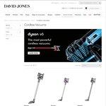 Save 20% - 40% on Dyson Handheld Cordless Stick Vacuums at David Jones