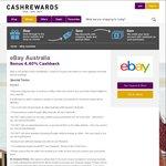 eBay Cashback 4.4% Sitewide @ Cashrewards (Please Read Post)