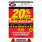 20% off All Store Stock at Supercheap Auto