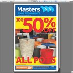 15m Hose Set $5, 40L Storage Container $5, Mondo Grass $1, 10-50% off Pots & Tiles @ Masters