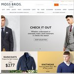 $50 off Orders $200 or More (+Free Shipping) @Moss Bros Suits