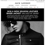 Win a Leather Biker Jacket (Valued at $549) from Jack London