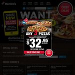 40% off @ Domino's Nationally (Excludes Value Range)