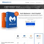 Malwarebytes Anti-Malware + Anti-Exploit US $24.95/~AU $34 (Save US $24.95)