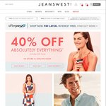 40% off Absolutely Everything @ Jeanswest (Excl Gift Cards)