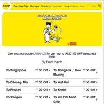 Scoot - $30 off Scoot Fares to Singapore (Fly Sydney - Singapore One Way @ $109)