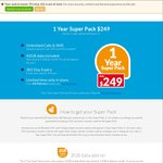 ALDImobile - 1 Year Prepaid Super Pack $249 (Unlimited Calls, SMS, MMS, 42GB Data) Starts 4/2