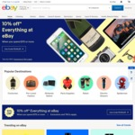 10% off Sitewide @ eBay (Min Spend $75, Max Discount $500)