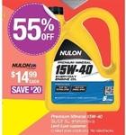 5L Nulon Premium Mineral Oil 15W-40 $14.99 ($20 off) @ Repco
