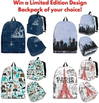 Win a Limited Edition Design Backpack of your choice from Shopeholic