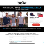 Win a Summer Prize Pack Worth Over $1,400 or 1 of 35 Mossimo T-Shirts from Brand Collective Pty Ltd
