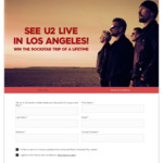 Win a Trip to U2 Live in LA for 2 Worth $7,860 from Nine Network