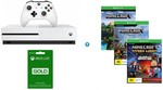 Xbox One S 500GB Minecraft Complete Adventure Bundle $249 @ Harvey Norman
