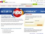 PayPal - Get up to $100 Cashback When You Buy 3+ Items from eBay Clever Christmas Sale