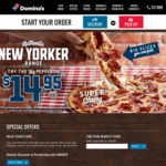 50% off Traditional, Premium or Melbourne Pizzas | 2 Garlic Breads for $5 | Garlic Bread + 1.25l Drink for $5 @ Domino's