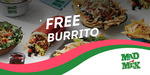 [VIC/NSW] FREE Burrito +15% Liven Cash earn at Mad Mex via LIVEN - Select Locations in Melbourne/Sydney (New Users)