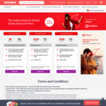 Vodafone $50 Starter SIM (35GB Data, 180 Days Expiry) for $25 & $22 Cashback @ Shopback