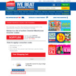 Chemist Warehouse $5 off $150 Spend