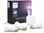 Philips Hue 10W A60 ES Hue White and Colour Ambiance Starter Kit $138.99 (Normally $289) @ Bunnings