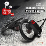 Wireless Earphones with Mic & Volume Control C-U8i + Free Gift Earphones CE156 (Free Ship) $25.95 @ Crazy Technology eBay