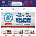 1000 Flybuys with any Click & Collect Order @ First Choice Liquor