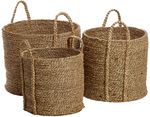 3pc Seagrass Nested Baskets $15 (RRP $79.95) @ Myer