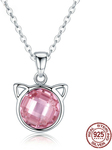 Women Genuine 925 Sterling Silver Cute Cat Zircon Pendant Necklaces AUD$13.99 Delivered @ eSkybird