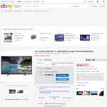 JVL 55-Inch Ultra HD TV with Built-in Google Chromecast (120hz)  $390.40 @ Grays Online eBay