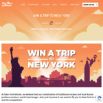 Win a Return Flight from Melbourne Tullamarine Airport to New York Worth $2,000 [Purchase a Burger from New York Minute]