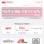 Westpac Rewards - Discounted Movie Tickets: HOYTS off Peak $11.50, Event & Village Super Saver $25 for 2, Palace $27 for 2