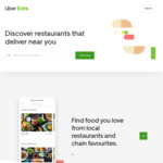 Uber Eats 50% off Every Time You Order over $15