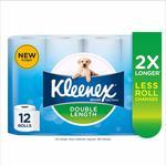 [Amazon Prime] KLEENEX Double Length Toilet Paper 12 Rolls (24 Standard Rolls) $7.50 Delivered @ Amazon AU