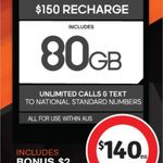Boost Mobile 12 Month Plan $140 @ Coles in Store Only (Telstra 4G, 80GB Data, Unlimited Calls & Text, Overseas*)