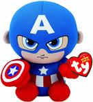Captain America Marvel Beanie Babies $7 + Delivery (Free with Prime / $49 Spend) @ Amazon AU