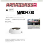Win 1 of 4 Furf Pets Spill-resistant Pet Bowls Worth $79 from MiNDFOOD