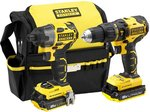 STANLEY FATMAX FMCK467D2-XE18V Brushless Hammer Drill + Impact Driver Combo Kit $216.35 Delivered @ Amazon AU