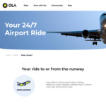 30% off Airport Drop off and Pickup through OLA Rideshare. Max Discount $50