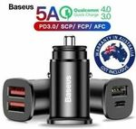 Baseus 30W USB Car Charger - 2 for $12, SanDisk Ultra/Samsung Evo 32GB Micro SD - 2 for $12 + Del ($0 with eBay Plus) @ SS eBay