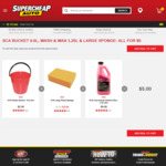 SCA Bucket, Wash & Wax, Sponge $5 @ Supercheap Auto
