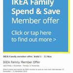 [Nationwide] $20 Voucher ($100-$249.99 Spend) and $50 Voucher ($250+ Spend) @ IKEA (Family Membership Required)